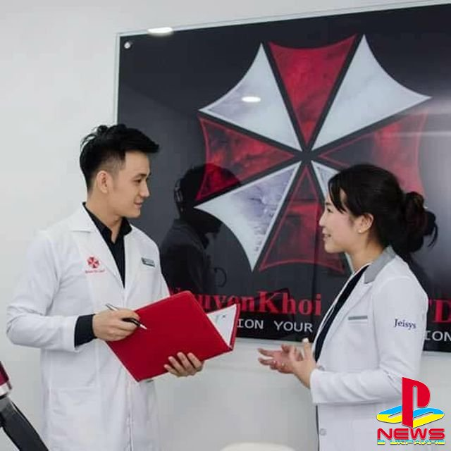 Вьетнамская клиника по уходу за кожей использует логотип корпорации Umbrella