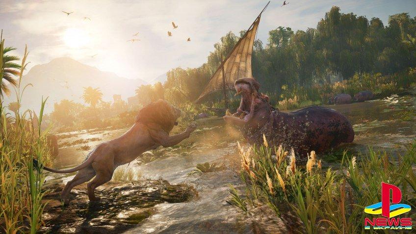 Герой Assassin's Creed: Origins сможет завести ручного крокодила и льва