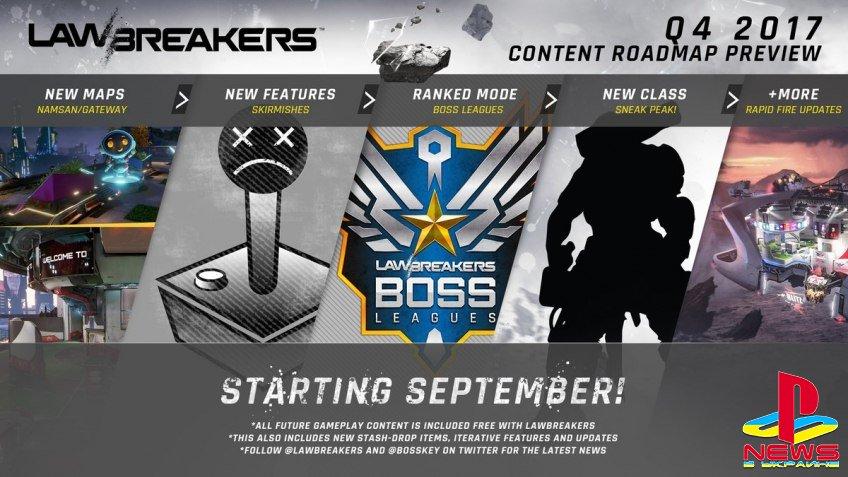 Разработчики LawBreakers готовят много нового контента