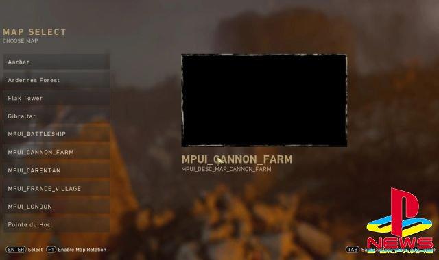 На старте Call of Duty: WW2 будет доступно 10 мультиплеерных карт