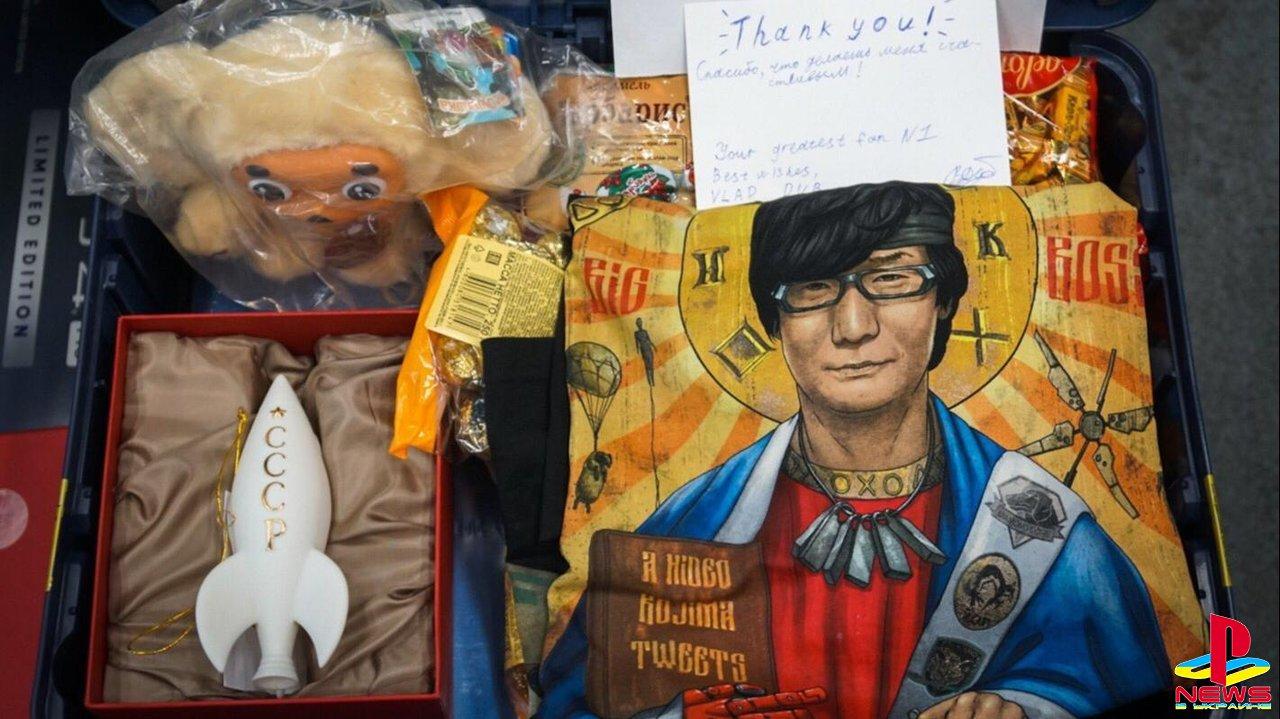 Кодзима получил посылку из России с Чебурашкой и своим ликом