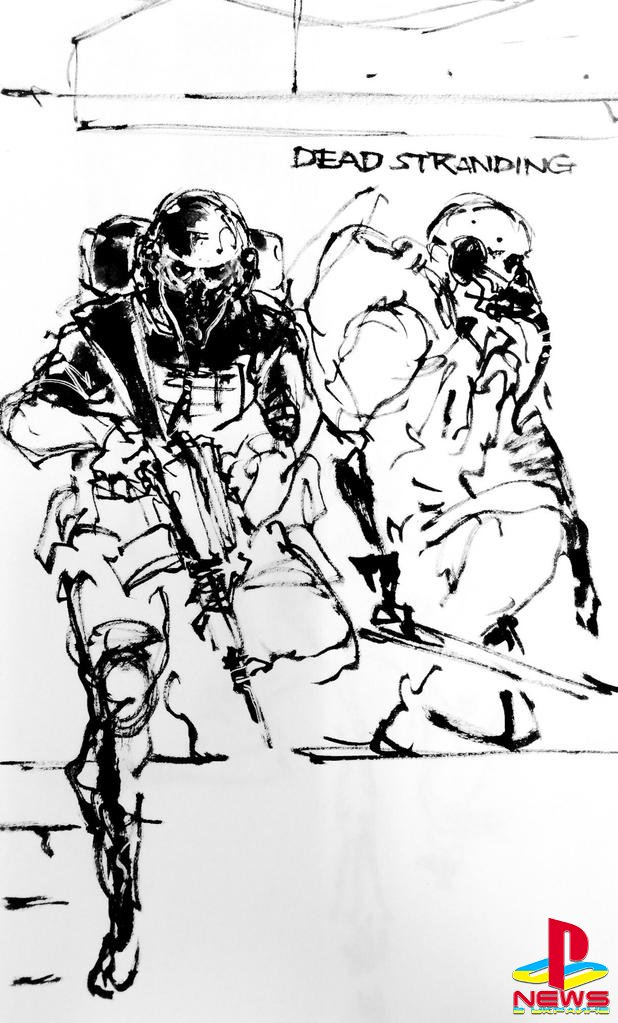 Хидео Кодзима показал ранний концепт-арт Death Strandin ...