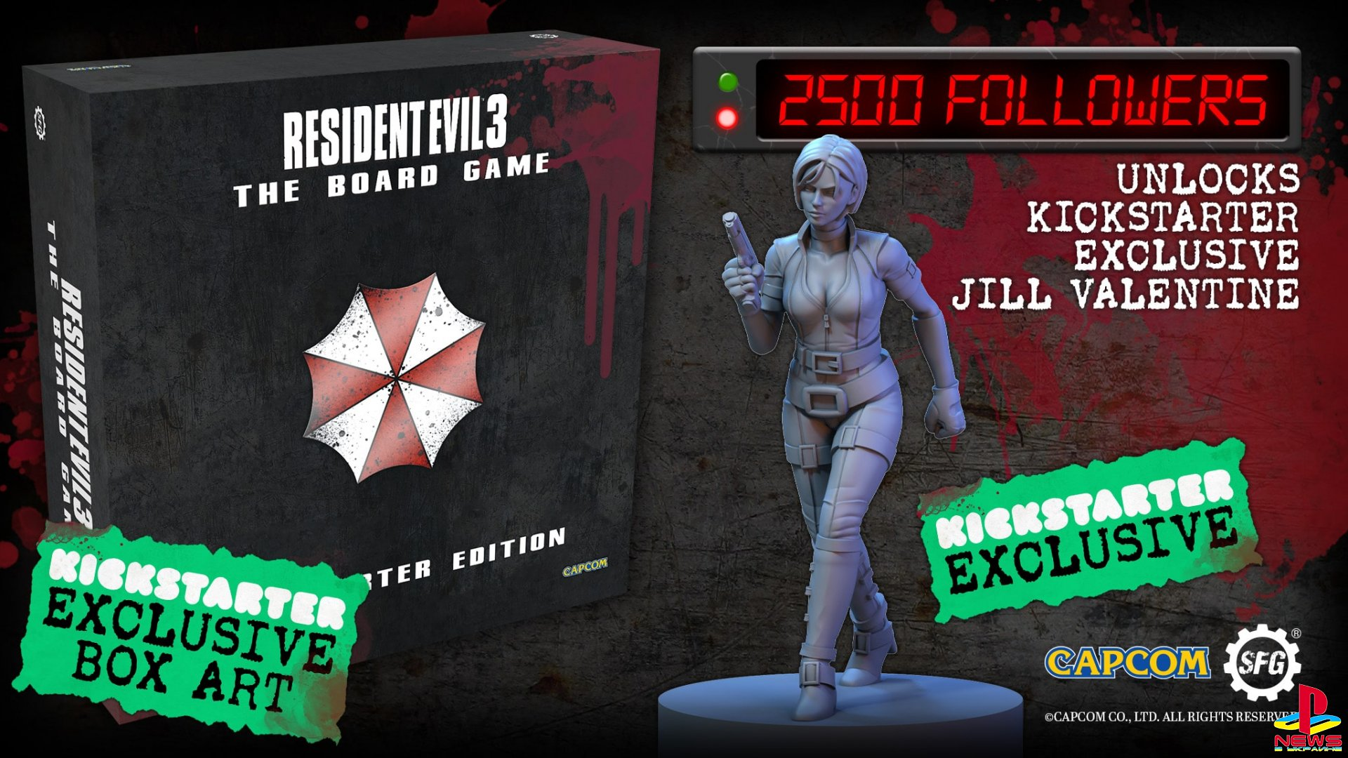 По Resident Evil 3 выйдет настольная игра