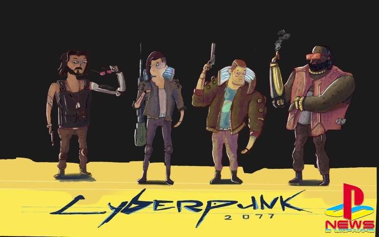 Cyberpunk 2077 превращается в красочный мультфильм на фан-артах