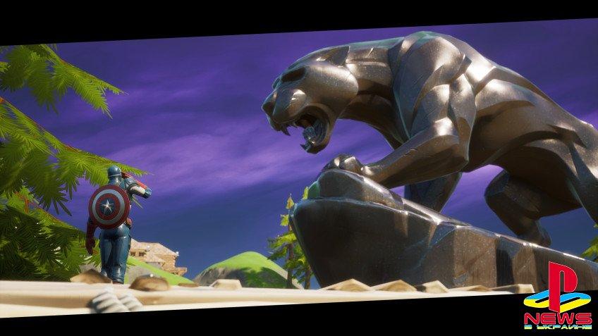 На карте Fortnite появилась статуя Чёрной пантеры