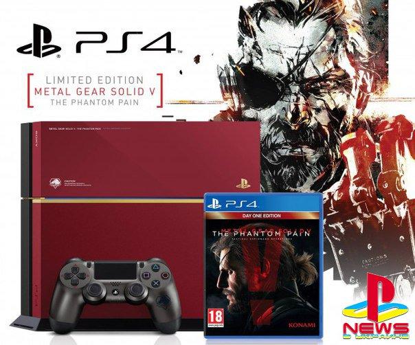 Лимитированная PlayStation 4 в стиле Metal Gear Solid 5 будет стоить в России 32 000 рублей