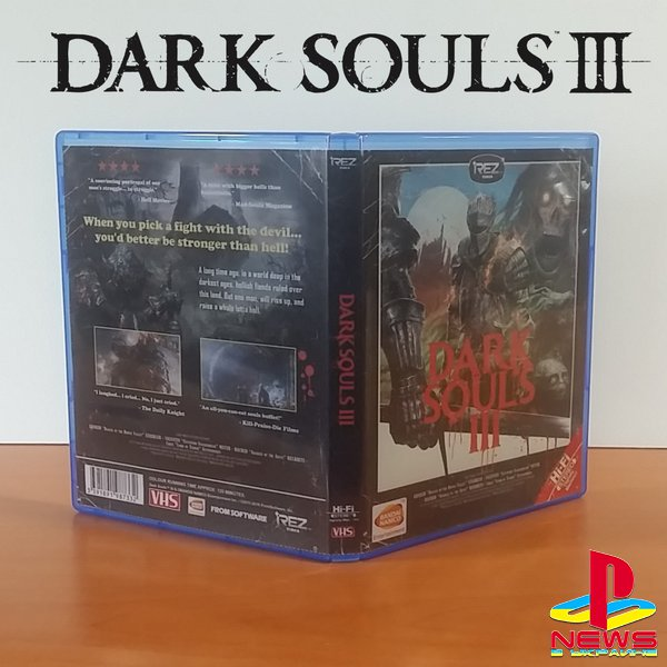 Издательство Bandai Namco показало альтернативную обложку Dark Souls 3, оформленную в стиле старых видеокассет