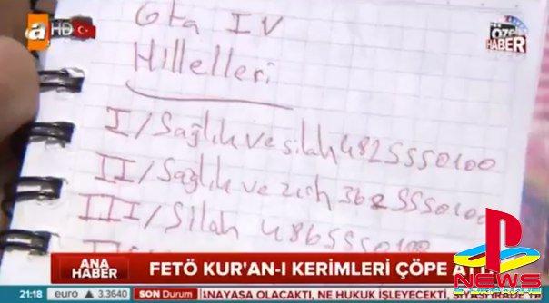 Турецкая журналистка приняла коды для GTA 4 за шифр повстанцев