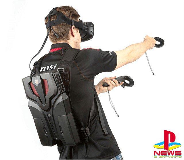 Первый в мире серийный VR-рюкзак MSI VR One